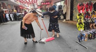 我馆开展爱国卫生运动市城区环境卫生大清扫