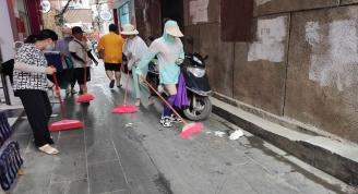 """我馆组织干部职工开展除""""四害""""后环境卫生大清扫活动"""